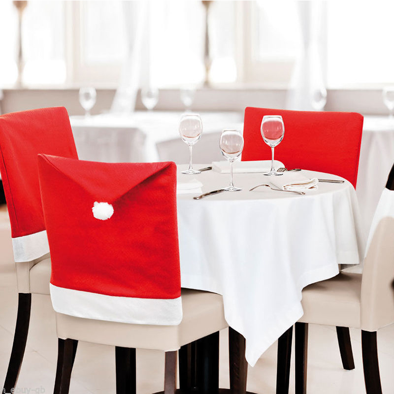 Christmas Decorations Gift Seat <font><b>Cover</b></font> For Dining Hotel Party Cadeira <font><b>Chair</b></font> <font><b>Covers</b></font> Spandex