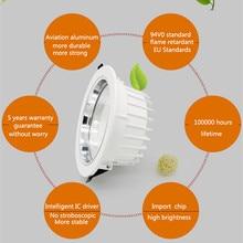 5w 7w 10w 12w 15w 20w 30w 60w 100W IP44 LED COB downlight Dimmable Recessed LED Ceiling Lamp Spot Light White/warm led lamp cree