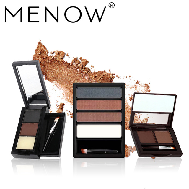 872871625b01 US $2.5 50% OFF|MENOW Brand Makeup Waterproof Lasting Multicolor Eyebrow  With Pencil Brush Natural Eyebrow Cosmetic kit whole sale Make up 5488-in  ...