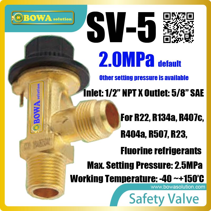 Safety valves are typically installed on the top of liquid  receiver or suction accumulator, replacing Castel 3060 safty valves