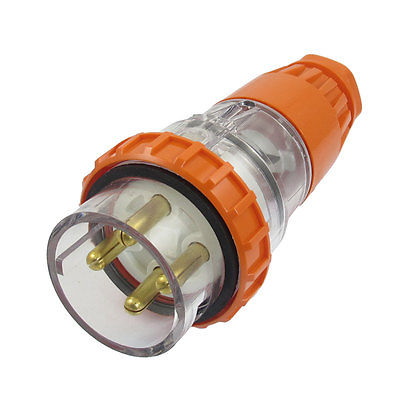 AC 500V 32A Waterproof Grade IP66 3Pin + E 56PA432 Industrial Straight Plug 63a 3pin 220 240v industrial waterproof concealed appliance plug waterproof grade ip67 sf 633