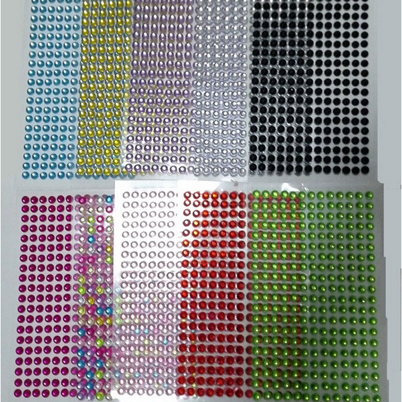 3MM 504cs set Car Auto Interior Computer Exterior Sticker Bling Crystal  Design Rhinestone Self Adhesive Scrapbooking Stickers-in Wall Stickers from  Home ... 51466f04345f