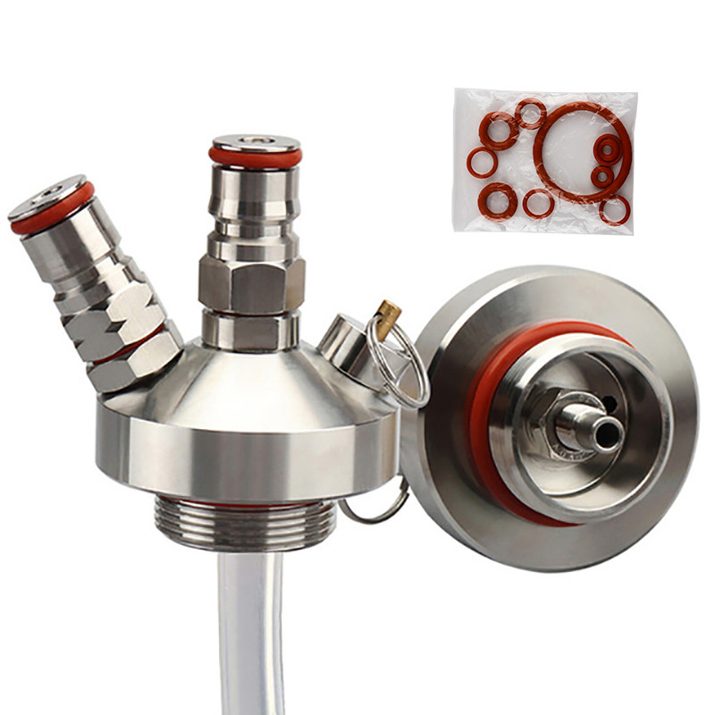 Stainless Steel 3.6L/5L/10L Mini Keg Tap Dispenser With 12'' Beer Hose For Mini Craft Beer Keg Growler Homebrew Spear New