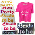 T-shirt transfer 50% off for 3pcs sparking bride to be bridesmaid hen stag party wedding event party supplies fun team bride