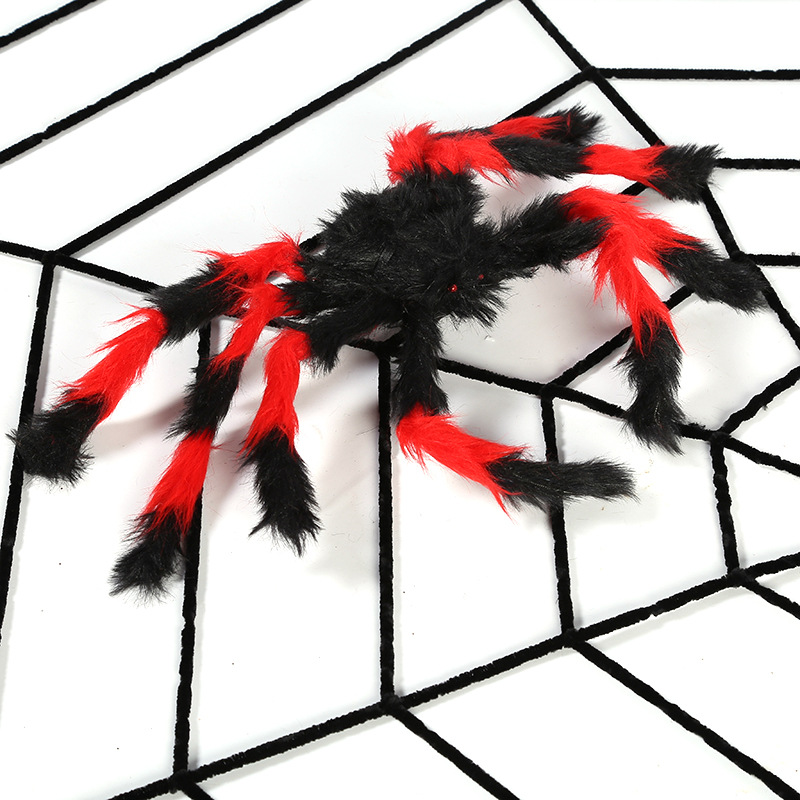 1.5M Gothic Spooky Plush Spider Web Net Halloween Haunted