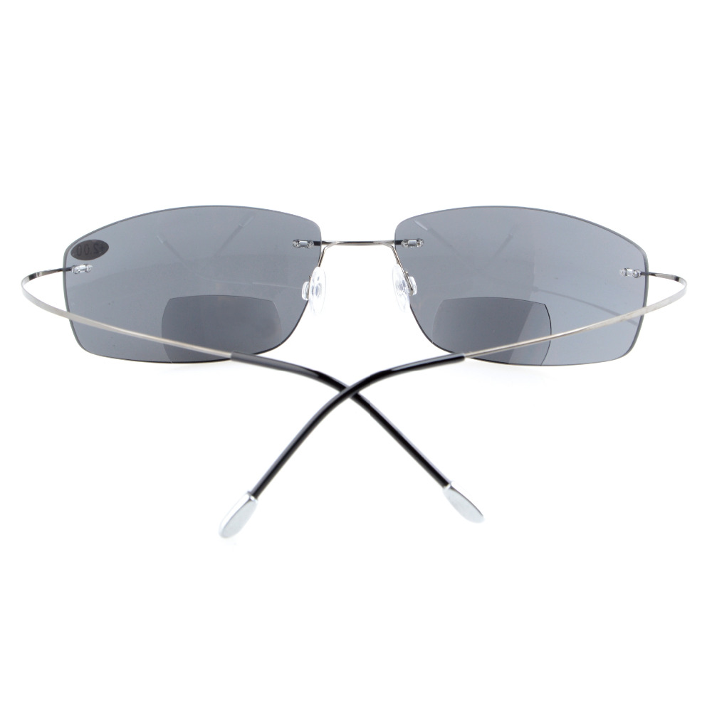 0d438e984a S1504 Polarized Bifocal Grey Lens Eyekepper Titanium Rimless Polarized  UV400 Bifocal Sun Readers Bifocal Sunglasses+2.0 +2.5-in Reading Glasses  from Apparel ...