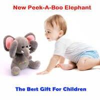 Freies Verschiffen Neue Peek A Boo Elefanten, Gestopft animierten & Plüsch Spielzeug elefant, singen Baby Musik Spielzeug Für Kinder Geschenk