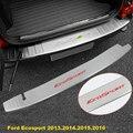 Traseira guarda externa placa para Ford Ecosport 2013.2014.2015.2016 Bumper cauda do peitoril da porta Scuff guarnição Protector tampa de aço inoxidável