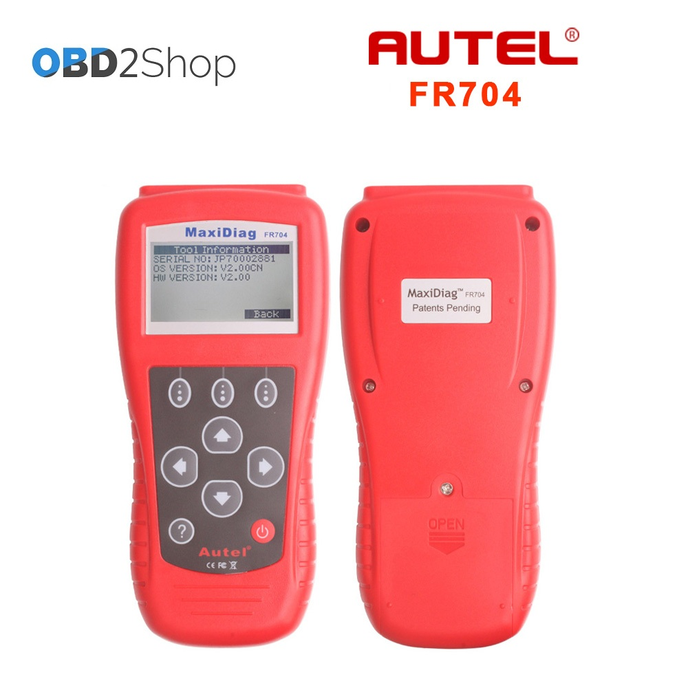 Autel MaxiScan FR704 FR-704 OBDII Code Reader Scanner Fr 704 france car models diagnostic tool autel md801 pro 4 in 1 code scanner jp701 eu702 us703 fr704 maxidiag pro md 801 code reader