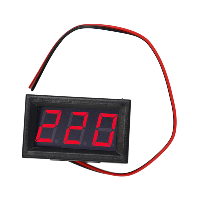 <font><b>10pcs</b></font>/lot mini 0.56 inch 3 wire AC 70-500V Red LED Voltage Panel Meter 3Bit Digital Display <font><b>Voltmeter</b></font> image