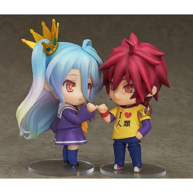 2019 Nendoroid 653 Anime No Game No Life Shiro PVC Figure Toy Gift