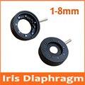 1-8 мм усилительный диаметр зум оптический диафрагма диафрагмы конденсатор 8 лезвий для цифровой камеры микроскоп адаптер