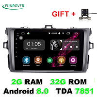Autoradio Funrover 8 Inch 2g 32g 2 Din Android 8 0 Car Dvd Player For Toyota