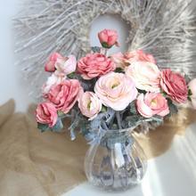 My Hosue Artificial Silk Fake Flowers Daisy Lotus Wedding Bouquet Party Home Decoration 17NOV3