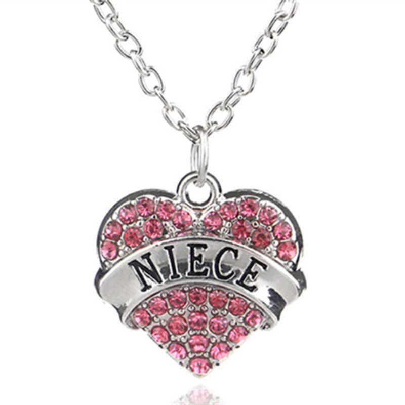 2019 nowy modny naszyjnik dla kobiet słodka miłość kształt cyrkon-inkrustowane łańcuszek z wisiorek długość do linii obojczyków naszyjnik damska biżuteria