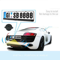 Car License Plate Camera Video Parking Sensor Detector For All European Car Styling Parking Rear View