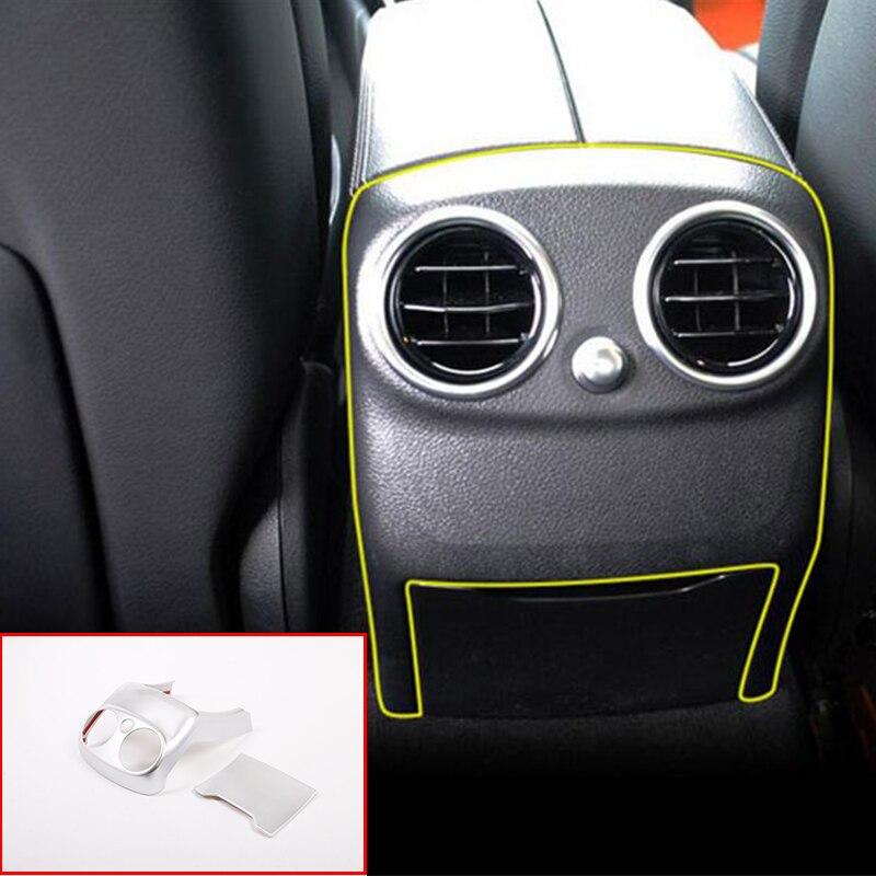 1 шт. ABS Хромированная Задняя Крышка вентиляционного отверстия кондиционера Накладка для Mercedes Benz W205 C Class C Class 2015 2018 автомобильные аксессуары