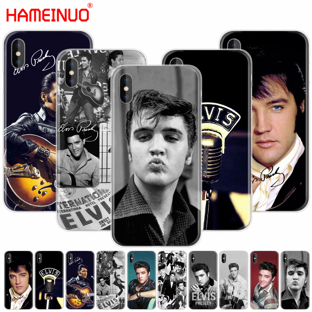 sale retailer de365 6d2e5 US $1.41 40% OFF|HAMEINUO Elvis Presley Kiss Luxury cell phone Cover case  for iphone X 8 7 6 4 4s 5 5s SE 5c 6s plus-in Half-wrapped Cases from ...