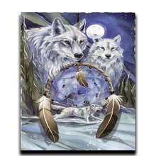 Diamond Embroidery Wolf Dream catcher 5D image Crystal Mosaic Cross Stitch Square Painting DIY needlework drill