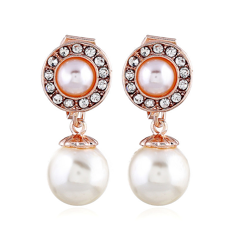 Hot Sale Clip On Earrings For Women Without Piercing No Hole Brincos 2018 Pearl Earrings Christmas Fashion Jewelry Gold Earrings