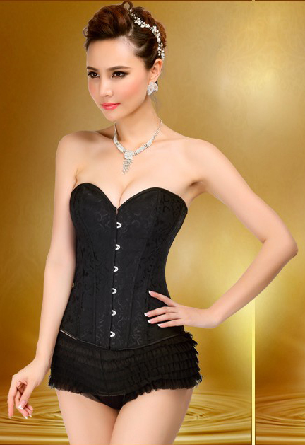 MOONIGHT New Sexy Black Corsage Elegant Lure Low-Cut Corset Waist Corsets Corsets And Bustiers Korsett For Women