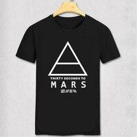 30 SECONDS TO MARS T Shirt Men S Short Sleeve Printed Logo Original Tshirt Custom Fashion