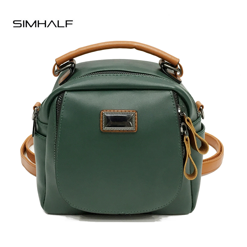 SIMHALF Autumn Newest Women Backpack PU Leather Schoolbag for Teenage Girls Small Travel Backpack Ladies Mochila Rucksack women leather backpack designer backpacks for teenage girls schoolbag embroidery leisure travel rucksack knapsack women s bag5v4