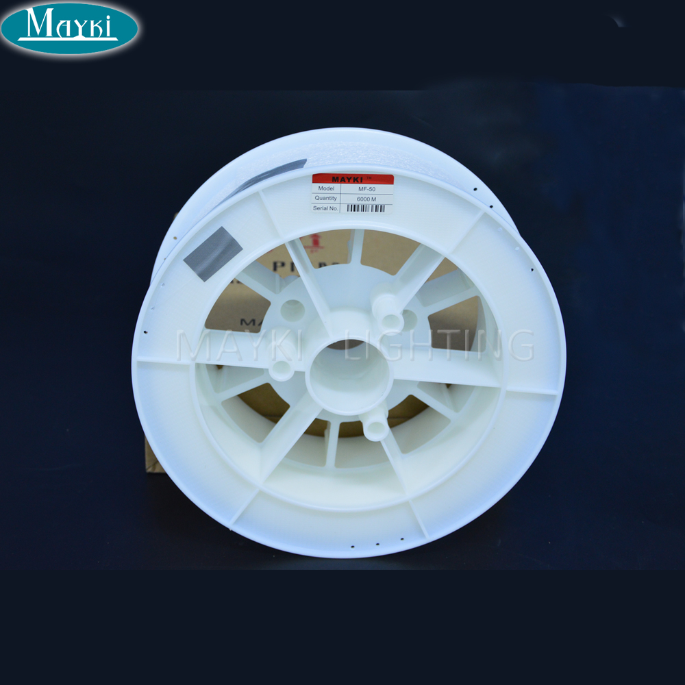 Maykit PMMA End Lit Fiber Optic Cable Plastic Material Rohs Certificate for Bathroom Bedroom Decor