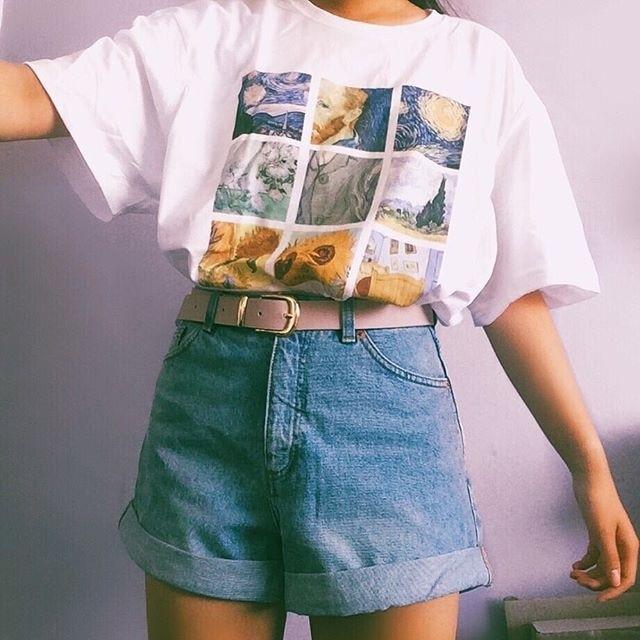 kuakuayu hjn van gogh painting vintage fashion aesthetic