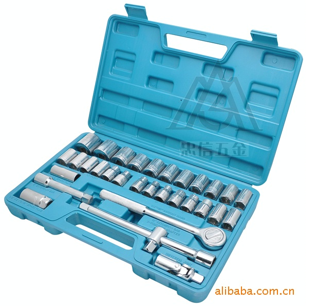 32 Piece 1/2 Series Socket Sets For Home And Auto Spanner   1/2