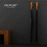 Olycat guarda-chuva masculino forte à prova de vento semi automático longo guarda-chuva grande homem e feminino negócios guarda-chuvas logotipo personalizado