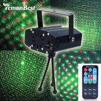 New Portable Multi LED Bulb Mini Laser Projector DJ Disco Stage Light Xmas Party Lighting Show
