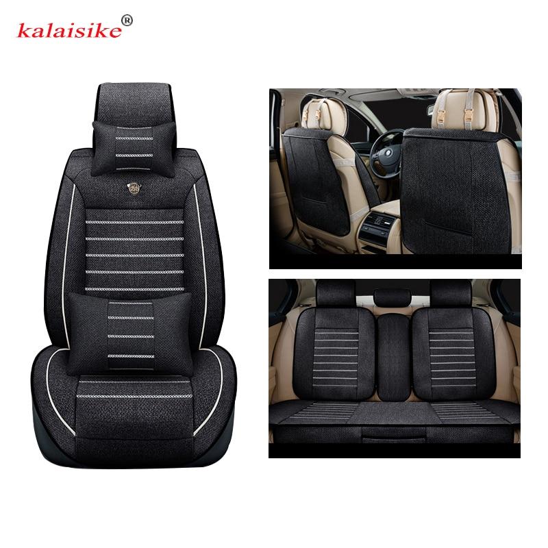 цены на Kalaisike Linen Universal Car Seat covers for Renault all models kadjar fluence captur Captur Laguna Megane Latitude car styling в интернет-магазинах