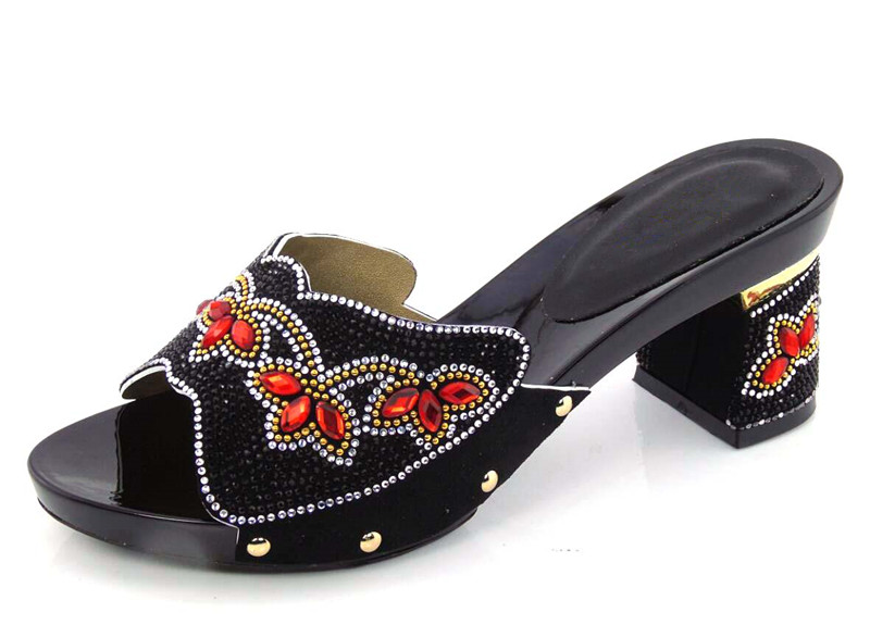 ФОТО Discount Summer Shoes!Nice-Looking African Sandals Casual Slippers For Lady black Sandals! DG1-26