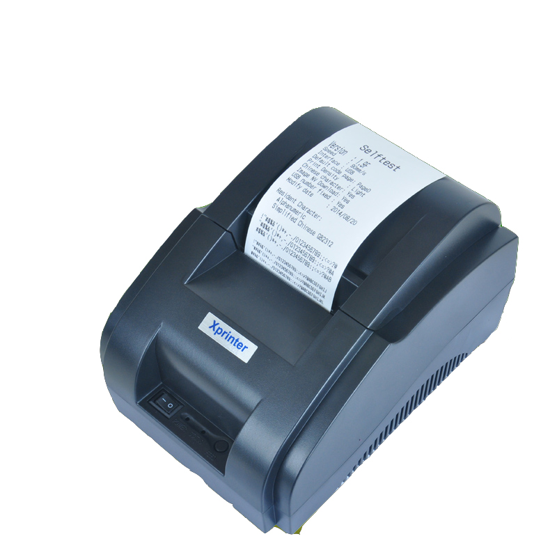 ФОТО Free shipping high speed original USB port 58mm thermal Receipt printer Low noise mini Pos printer XP-58IIH