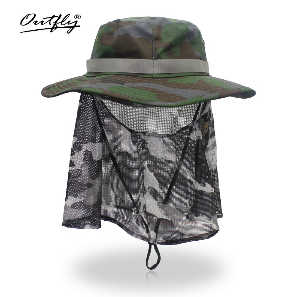 New Summer Camo Fisherman Casual Bucket Camping Hiking Hiking fishing mountaineering sombrero sunshade Bonnie hat For men women