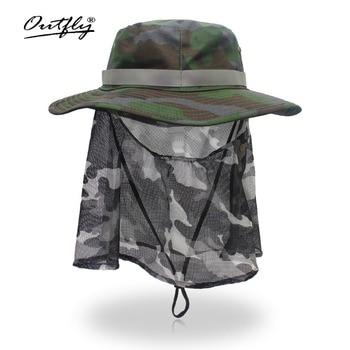 4aa5f1ee672d1 Nuevo verano Camo pescador cubo ocasional Camping senderismo montañismo pesca  sombrero sombrilla Bonnie sombrero para las mujeres hombres