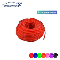 HOSINGTECH ID 5MM OD 9MM Silicone Vacuum Hose Tubing Silicone Pipe Car Reinforced Modification