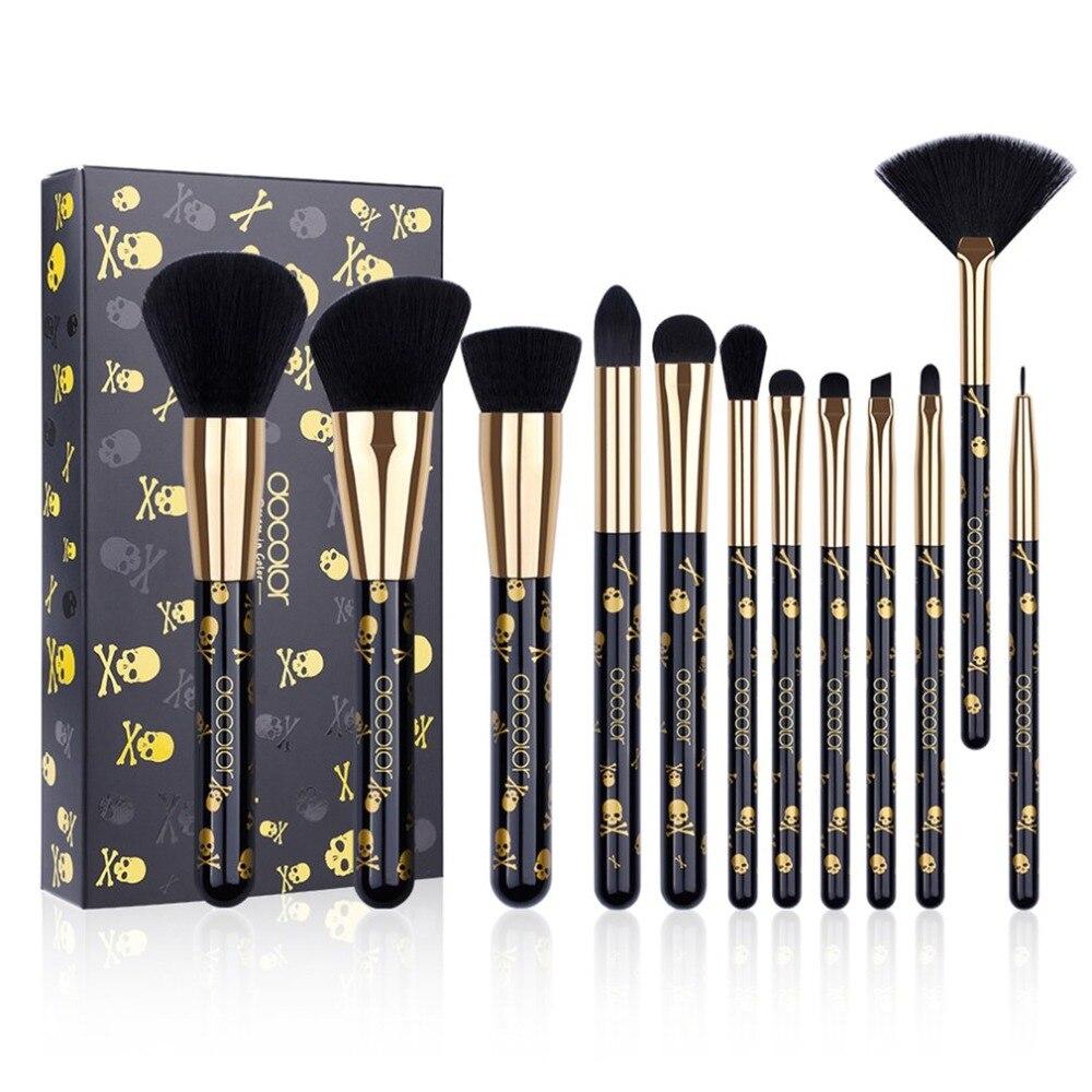 New Fashion Women Beauty Docolor Gothic Makeup Brushes Sets Foundation Brushes Eyeshadow Eye Brushes Cosmetic Tools Maquiagem