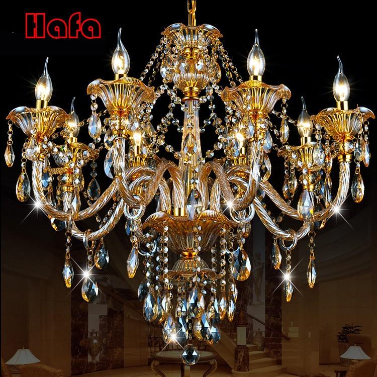 luxury Gold crystal chandelier Modern Crystal Chandelier Home Lighting Decoration Chandeliers and Living Room Indoor Lamp