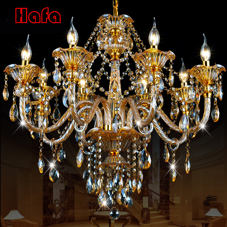 luxury Gold crystal chandelier Modern Crystal Chandelier Home Lighting Decoration  Chandeliers and  Living Room Indoor Lamp modern crystal chandelier light living room decoration crystal pendants and chandeliers home lighting indoor lamp e14 led candle