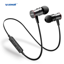 IPX4 sweatproof earphones Sowak S12+ bluetooth 4.1 wireless sports APTX stereo headset with MIC for Oneplus 5 Smartphone