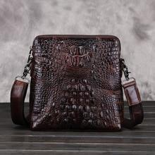 2016 neue Ankunft männer Echte Lederne Beutel Crossbody Beutel Alligator Muster Messenger Taschen Business Men Vintage Schulter Handtasche