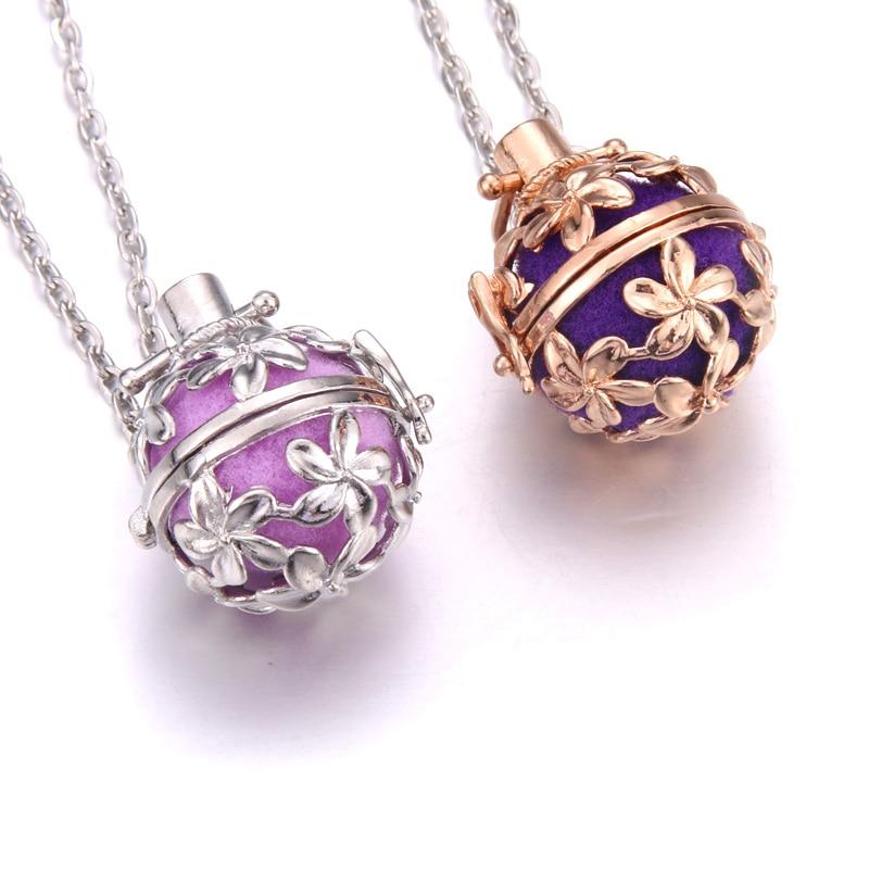 Multi-colorido aromaterapia loquetes flor aroma difusor óleos essenciais difusor perfume pingente colar fasion jóias