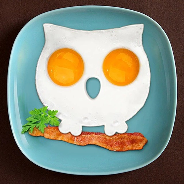 PREUP Breakfast Silicone Owl Skull Fried Egg Mold Pancake Ring Shaper Cooking Tools Kitchen Gadgets Kid Gift