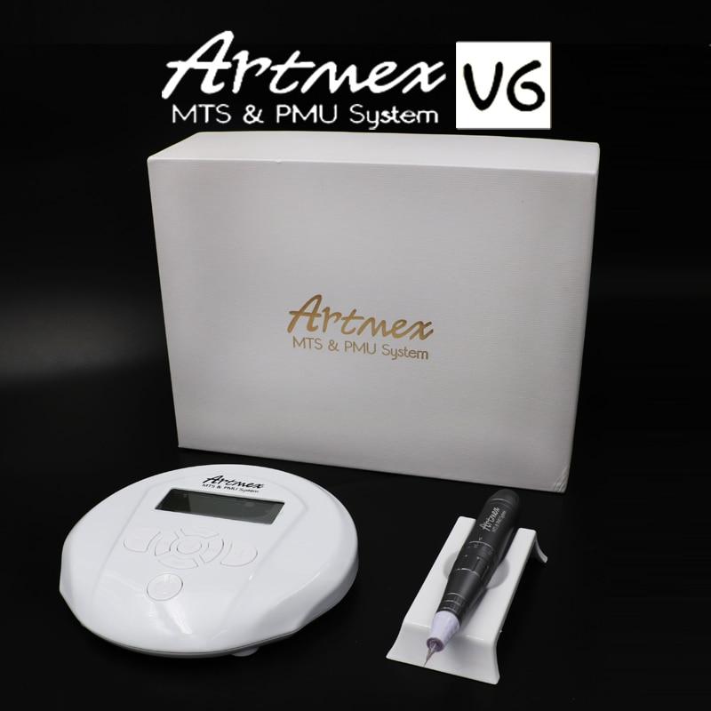 Hhigh quality Permanent Makeup machine Artmex V6 Eye Brow Lip Rotary Pen V6 Tattoo Machine MTS PMU System with V6 tattoo needle v6
