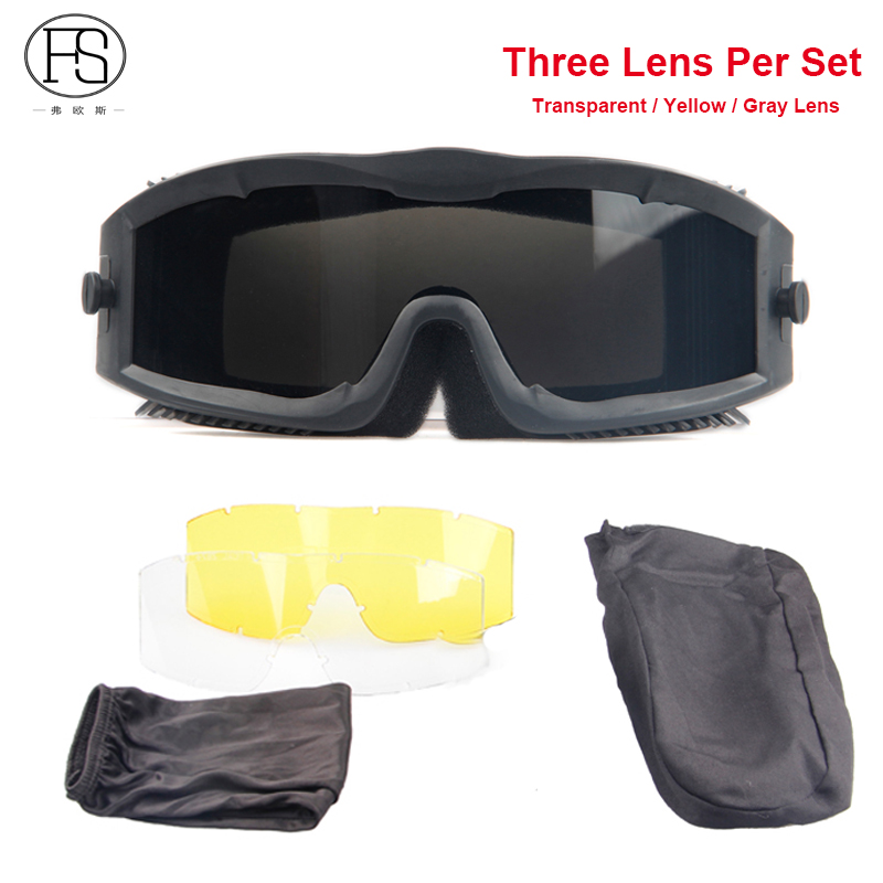 00c5d769acdaf Óculos de Sol Militares do exército Tático Atividades Usar Anti-sapo Óculos  À Prova de Balas À Prova de Vento CS Airsoft Esporte Homens Óculos de  Proteção ...