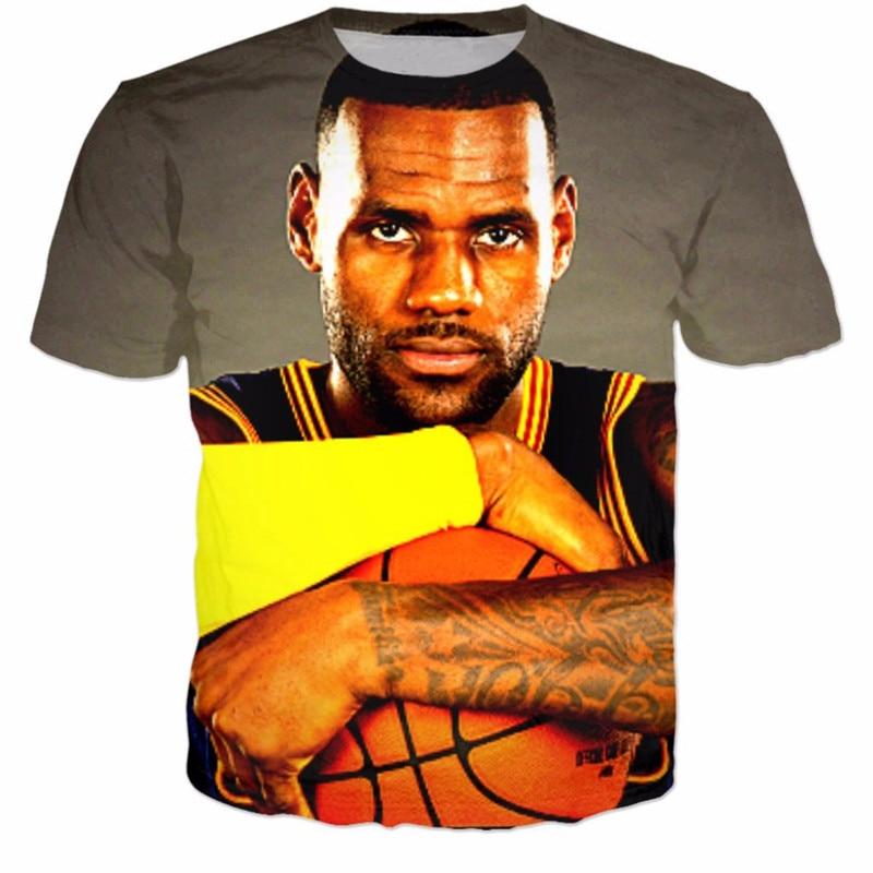 c4d540e8e872 Liumaohua hot sale Men Women brand T shirts star Lebron James 3D Print  fashion T Shirt summer style casual Fashion Tee Shirts -in T-Shirts from  Men s ...