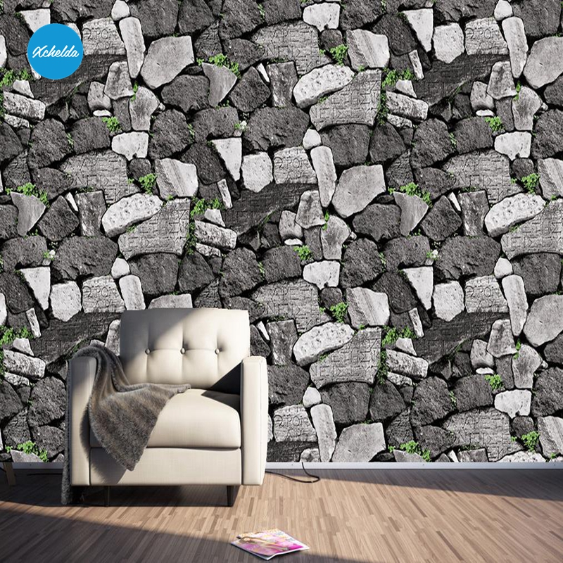 XCHELDA Custom 3D Wallpaper Design Brick Rock Wall Photo Kitchen Bedroom Living Room Wall Murals Papel De Parede Para Quarto kalameng custom 3d wallpaper design street flower photo kitchen bedroom living room wall murals papel de parede para quarto