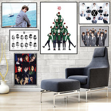 EXO Posters K-Pop Dance-Pop Muurstickers Wit Gecoat Papier Woondecoratie 42*30cm(China)